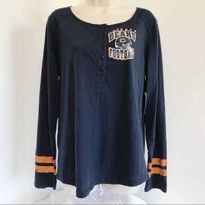 NFL Chicago Bears L Henley Tee Long Sleeve